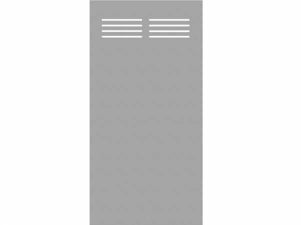 Sichtschutzelement Slot-Design BOARD titangrau