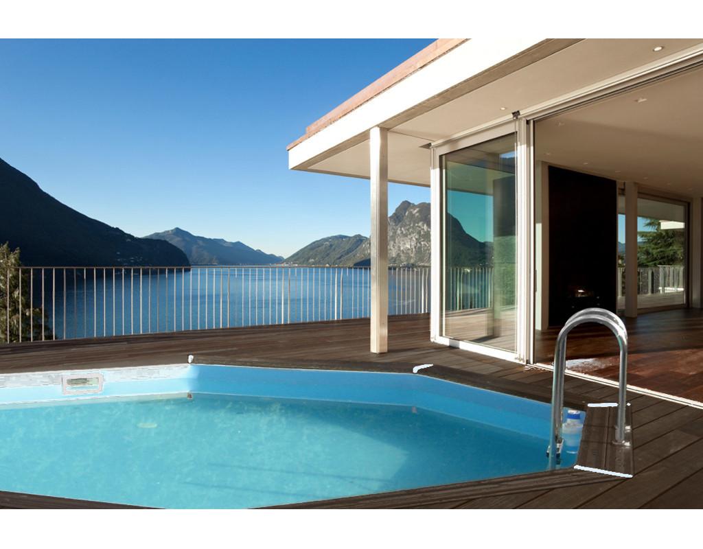holzpool bali 8 eck 530 cm standard set in0044. Black Bedroom Furniture Sets. Home Design Ideas