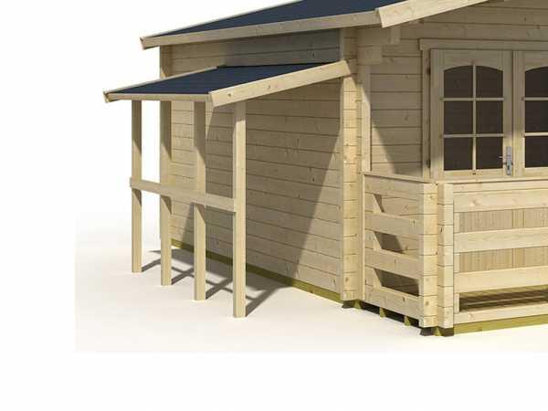 Schleppdach A 300 cm für Gartenhhäuser naturbelassen