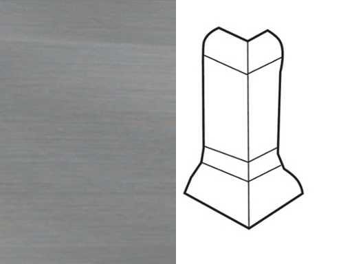 Außenecke für Sockelleiste Profil 1 1K 1 MK Edelstahl