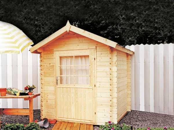 Gartenhaus Blockbohlenhaus Max 28 28 mm naturbelassen