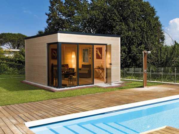 Gartenhaus Designhaus Cubilis Gr. 1 45 mm naturbelassen