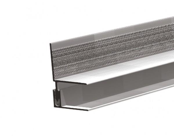 Aluminium Wandabschluss inkl. Alu Befestigung