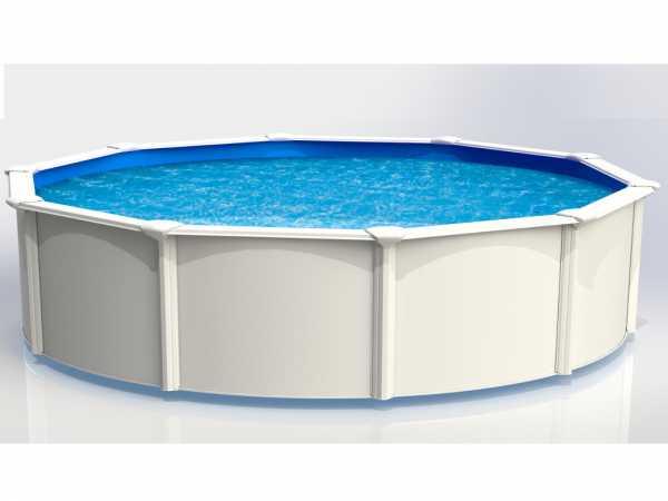 "Stahlwandpool ""Aruba"" rund 460 cm Basic Set"