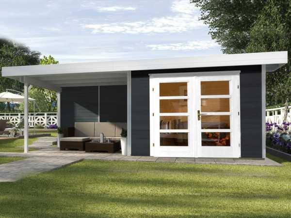 Gartenhaus Designhaus 126 B Gr. 2 28 mm anthrazit