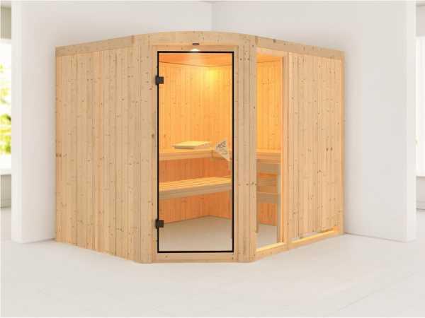 Sauna Systemsauna Lakura mit Fenster