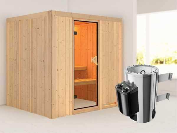 Sauna Systemsauna Daria inkl. Plug & Play Saunaofen Steuerung