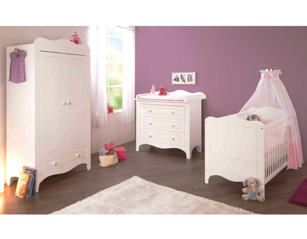kinderzimmer fleur mdf wei lackiert pi0815. Black Bedroom Furniture Sets. Home Design Ideas