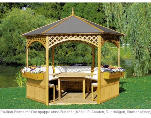 pavillon palma inkl dachpappe pr0119. Black Bedroom Furniture Sets. Home Design Ideas