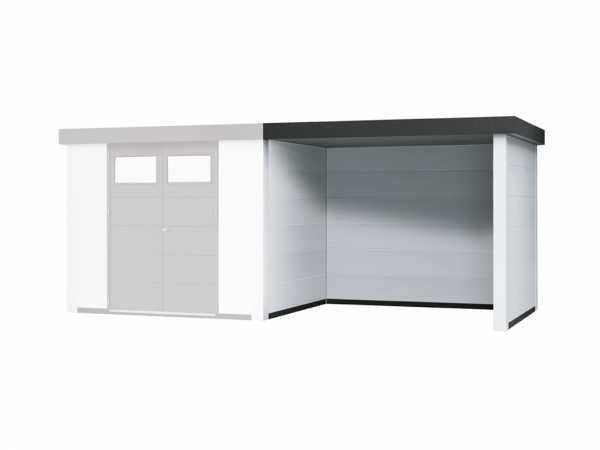 """Loungeanbau rechts für Gerätehäuser """"Eleganto 2424"""" und """"Eleganto 3024"""" Weiß"""