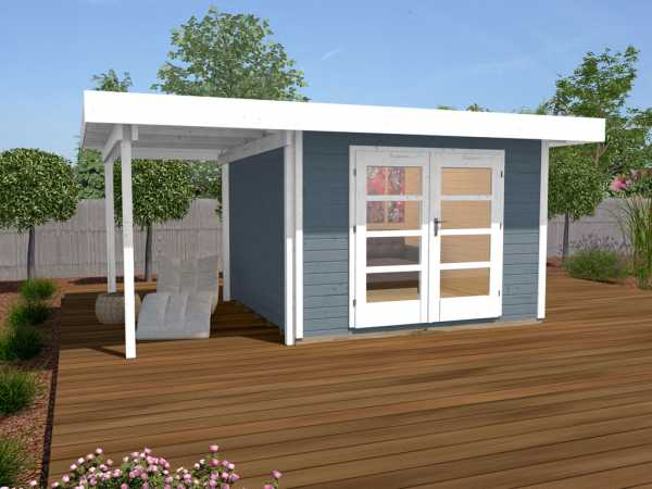 Gartenhaus Designhaus 126 A Gr. 2 28 mm grau