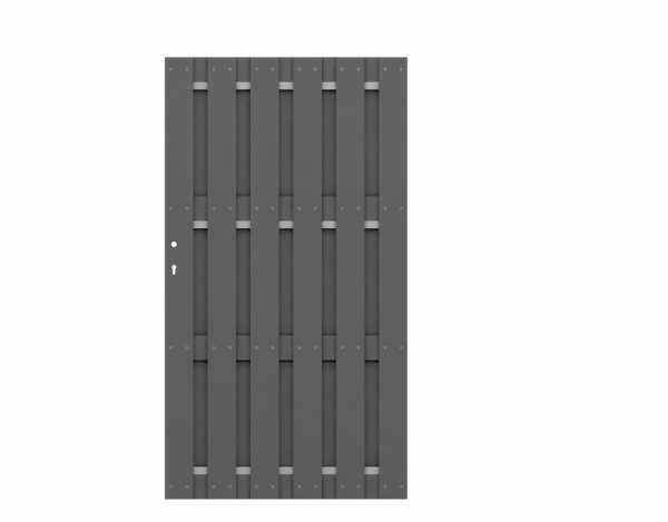 Tor JUMBO WPC Anthrazit-Aluminium