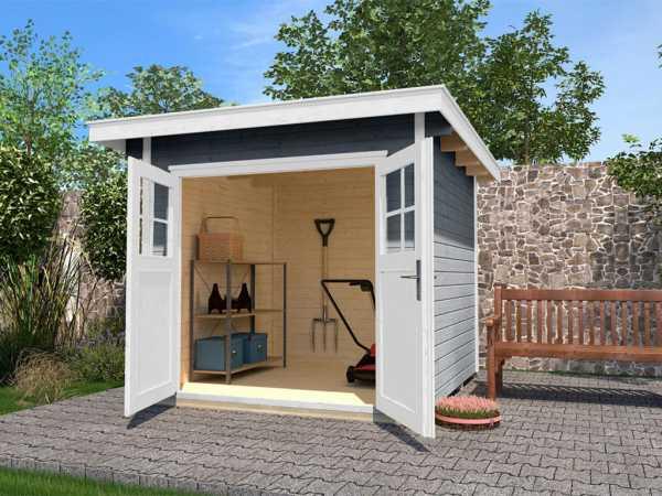 Gartenhaus 179 Gr. 2 28 mm grau