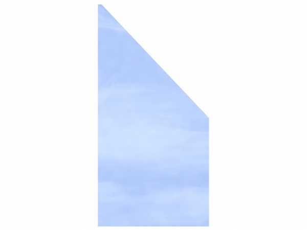 Sichtschutzzaun SYSTEM GLAS KLAR Abschlusselement
