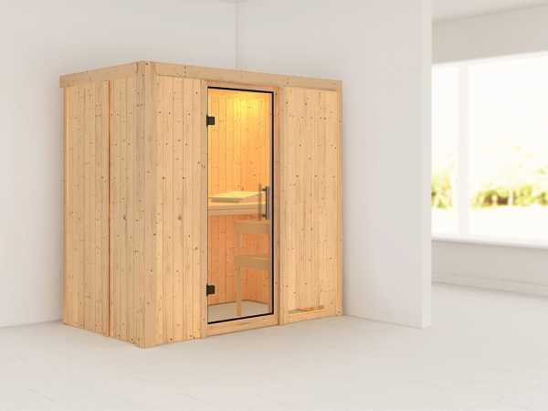 Sauna Systemsauna Variado Klarglas Ganzglastür