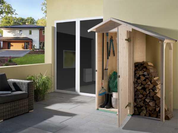 Garten-Terrassenschrank 351 A 14 mm naturbelassen