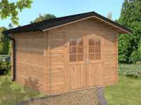 Gartenhaus Blockbohlenhaus Tina 7,5 m² 34 mm braun tauchimprägniert