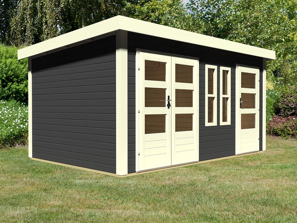 gartenhaus appelhorn 2 28 mm terragrau 761111. Black Bedroom Furniture Sets. Home Design Ideas