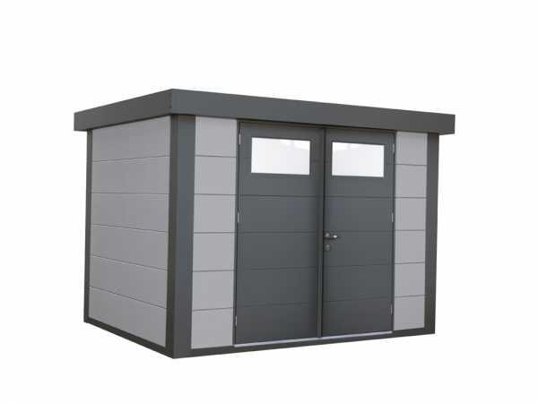 Gerätehaus aus Metall Eleganto 2721 Lichtgrau
