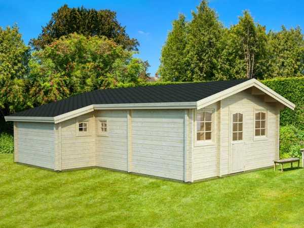 Ferienhaus Blockbohlenhaus Emily 39,2 m² 70 mm naturbelassen