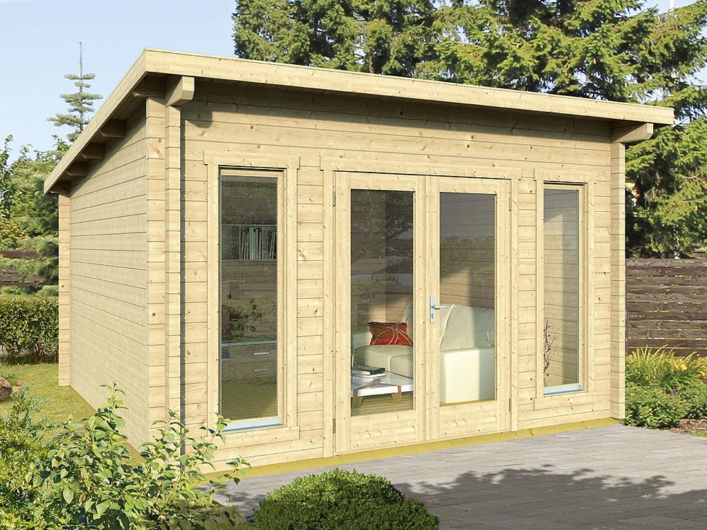 gartenhaus blockbohlenhaus trondheim 70 b 70 mm naturbelassen wf1379. Black Bedroom Furniture Sets. Home Design Ideas