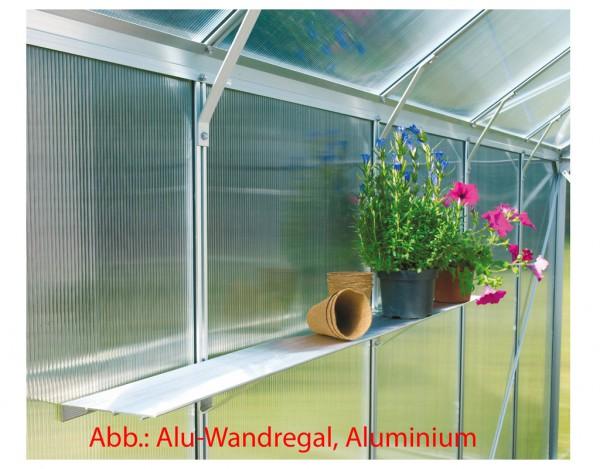 Gewächshaus Zubehör Aluminium-Wandregal, dunkelgrün
