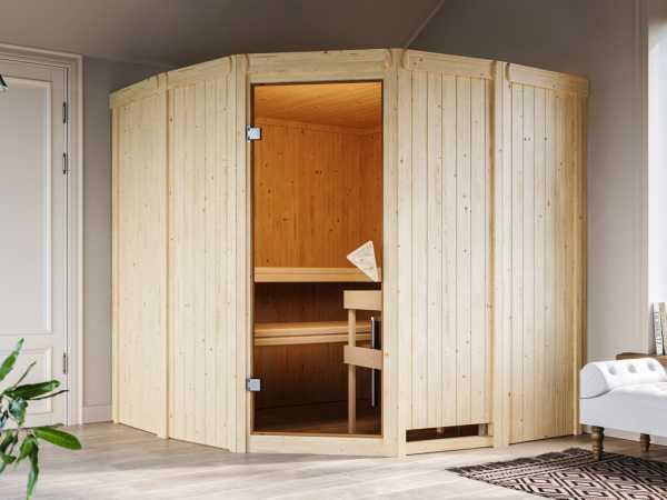 Sauna Systemsauna Simara 1 inkl. 9 kW Saunaofen integr. Steuerung