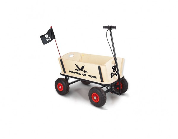 """Bollerwagen """"Pirat Jack"""" unbehandelt"""