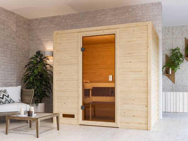 Sauna Selena mit bronzierter Glastür