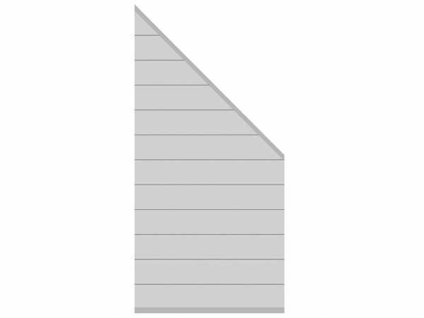 Sichtschutzzaun SYSTEM Alu Zaun-Anschluss-Set Abschlusselement Silber