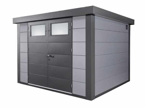 Gerätehaus aus Metall Eleganto 3024 Lichtgrau