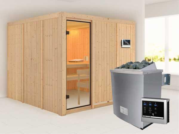 """Sauna Systemsauna SPARSET """"Celine 8"""" inkl. 9 kW Ofen mit ext. Steuerung"""