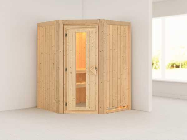 Systemsauna Larin Holztür mit Isolierglas