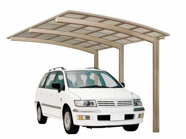 Carport Portoforte Typ 110 Edelstahl-Look