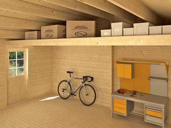 Lagerboden für Garage Falkland naturbelassen