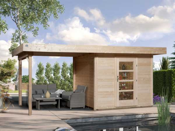 Gartenhaus Designhaus 172 B Gr. 2 28 mm naturbelassen