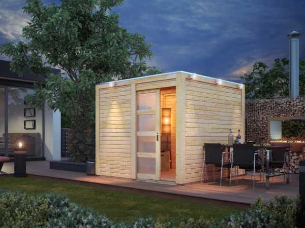 Gartenhaus Cubino 19 mm naturbelassen