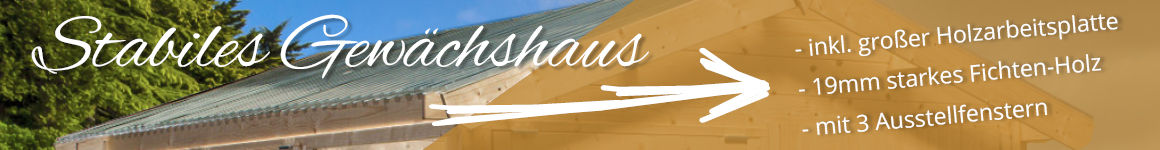 Stabiles Gartenhaus