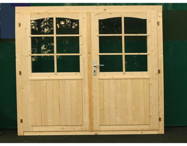 Doppeltür für 70 mm Gartenhaus
