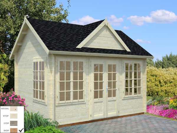 """Gartenhaus Blockbohlenhaus """"Claudia"""" 11,5 m² 34 mm braun tauchimprägniert"""