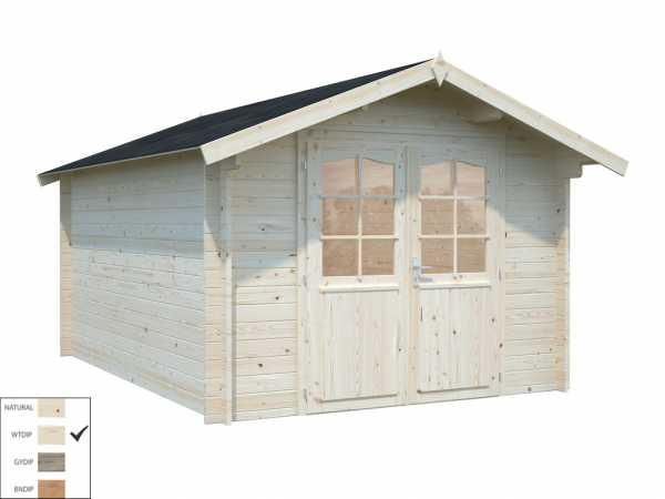 "Gartenhaus Blockbohlenhaus ""Lotta"" 10,0 m² 34 mm transparent tauchimprägniert"