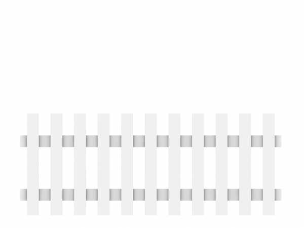 Vorgartenzaun LONGLIFE CARA Hauptelement Weiß