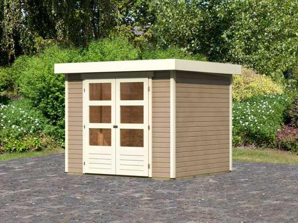 "Gartenhaus ""Askola 3"" 19 mm sandbeige"