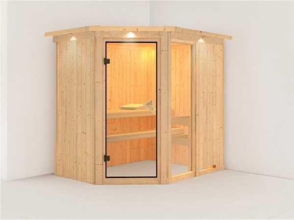 Sauna Systemsauna Fiona 1 mit Dachkranz