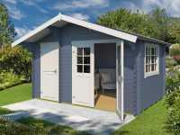 Gartenhaus Blockbohlenhaus Keila 28 28 mm taubenblau