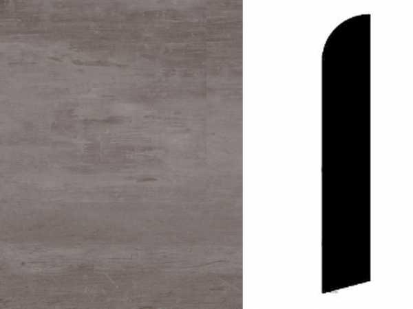 Sockelleiste Scratched Metal Grey Dekor
