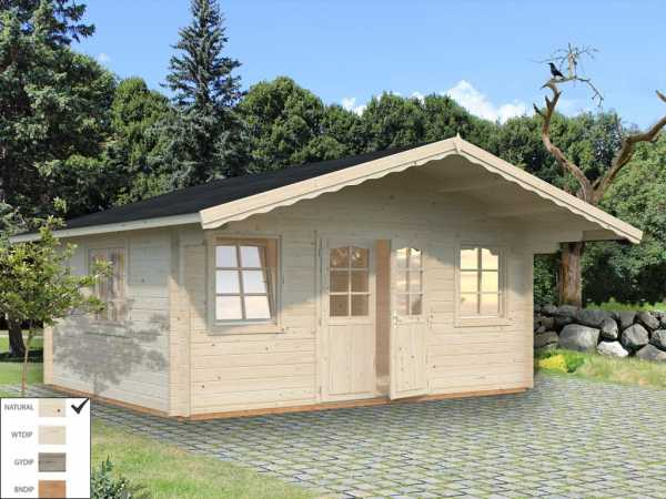Gartenhaus Blockbohlenhaus Helena 18,6 m² 70 mm naturbelassen