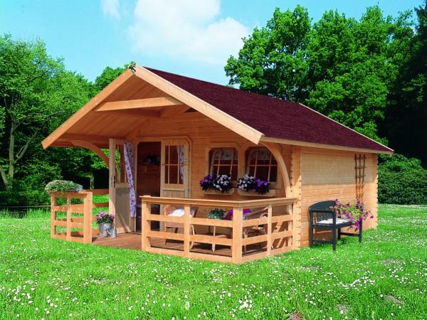 gartenhaus blockbohlenhaus sparset doderic 3 premium 40 mm naturbelassen satteldach. Black Bedroom Furniture Sets. Home Design Ideas