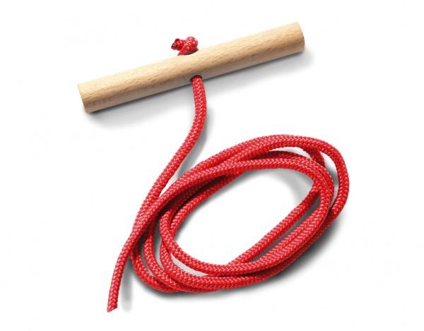Zugseil für Schlitten rot