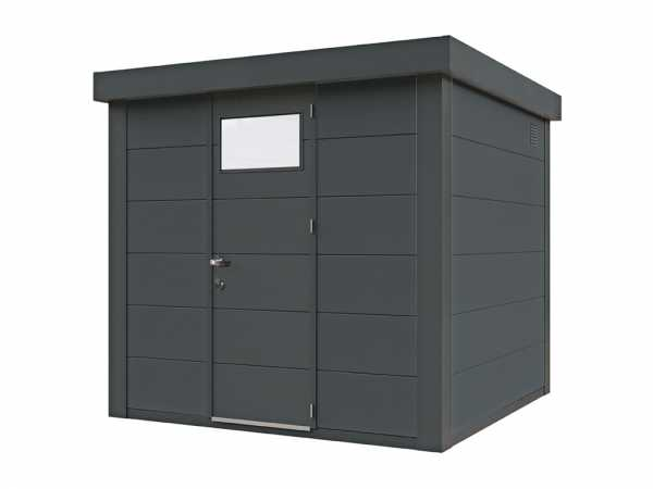Gerätehaus aus Metall Eleganto 2424 Granitgrau